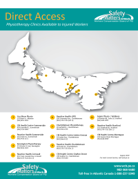 Map of Physiotherapy Clinics that offer Direct Access